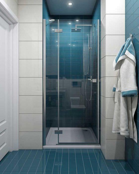 идея необычного стиля ванной 3 кв.м