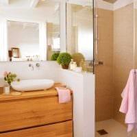 вариант красивого стиля ванной комнаты 6 кв.м фото