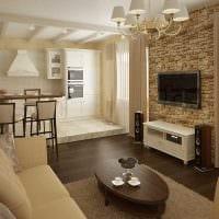 идея светлого стиля зала в частном доме картинка