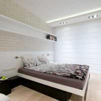идея современного стиля спальни в белом цвете картинка