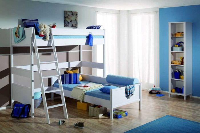 идея необычного дизайна детской для двух мальчиков