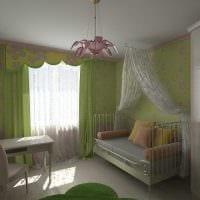 вариант светлого стиля детской комнаты фото