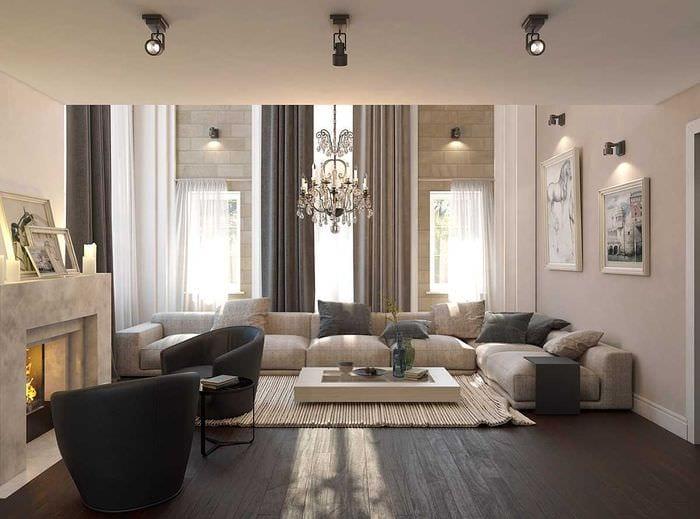 вариант красивого стиля дома со вторым светом