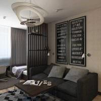 идея современного интерьера небольшой гостинки фото