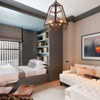 вариант красивого дизайна гостиной комнаты 19-20 кв.м фото