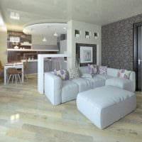 вариант красивого стиля гостиной 25 кв.м фото