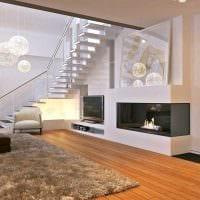 идея современного интерьера квартиры со вторым светом фото