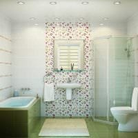 вариант красивого дизайна ванной комнаты 2017 картинка