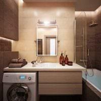 идея красивого стиля ванной комнаты 3 кв.м картинка
