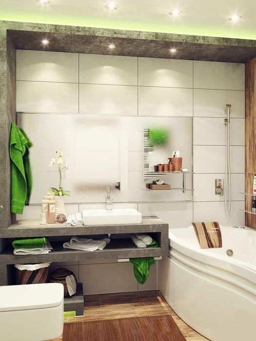 вариант яркого стиля ванной 5 кв.м