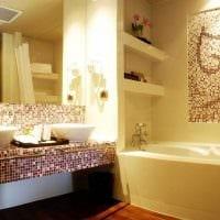идея яркого дизайна ванной 6 кв.м фото