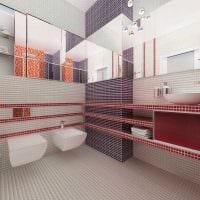 вариант современного стиля ванной комнаты 4 кв.м фото
