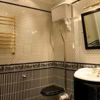 идея красивого интерьера ванной комнаты в классическом стиле фото