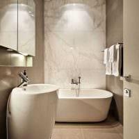 вариант яркого декора ванной в классическом стиле картинка