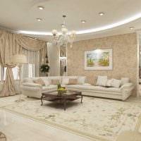 вариант красивого стиля гостиной в частном доме фото