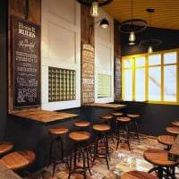 идея яркого стиля ресторана в стиле лофт картинка