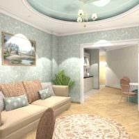 пример яркого интерьера квартиры 65 кв.м фото