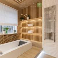 идея красивого интерьера большой ванной комнаты фото
