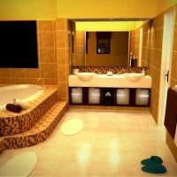 вариант современного дизайна большой ванной картинка