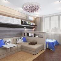пример красивого дизайна гостиной 16 кв.м фото