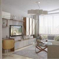 пример яркого интерьера гостиной комнаты 19-20 кв.м картинка