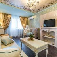 вариант светлого стиля гостиной комнаты 19-20 кв.м картинка
