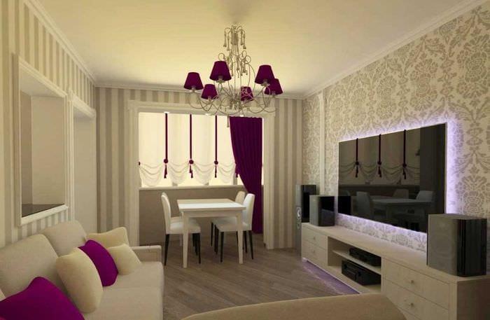 вариант светлого интерьера современной квартиры 50 кв.м