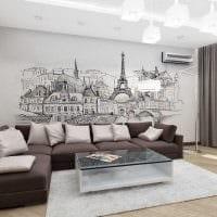 идея красивого дизайна современной квартиры 70 кв.м картинка