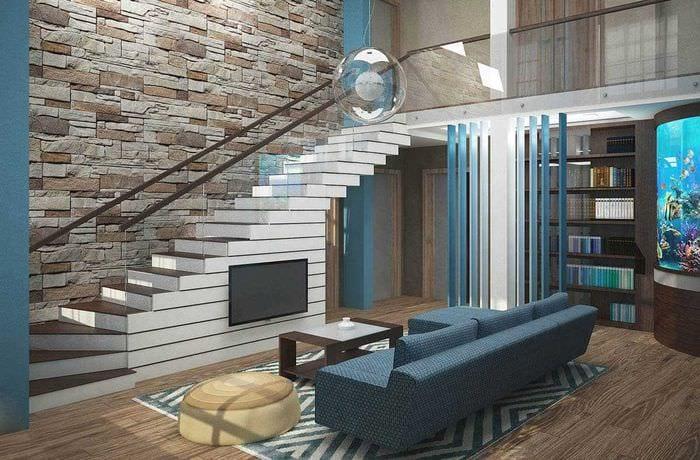 вариант яркого стиля квартиры со вторым светом