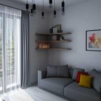 идея красивого интерьера небольшой гостинки картинка