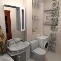 идея необычного дизайна ванной комнаты 3 кв.м картинка
