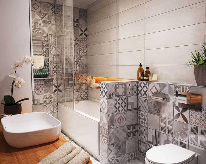 идея красивого стиля ванной 3 кв.м