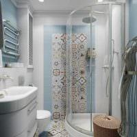 идея красивого интерьера ванной 4 кв.м картинка