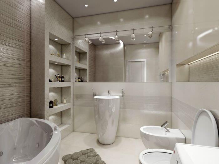 пример яркого дизайна ванной 5 кв.м
