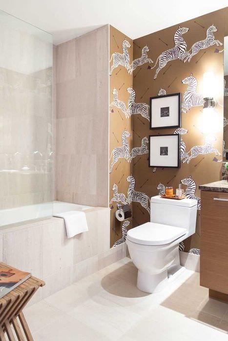 вариант яркого стиля ванной 6 кв.м