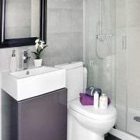 вариант красивого стиля ванной 3 кв.м фото