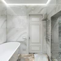 идея светлого дизайна ванной комнаты в классическом стиле фото