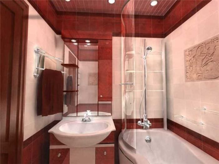 идея красивого стиля большой ванной