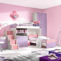 вариант светлого интерьера детской комнаты для девочки картинка