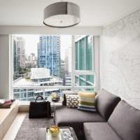 пример светлого дизайна гостиной 2018 фото