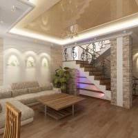 вариант красивого декора зала в частном доме фото