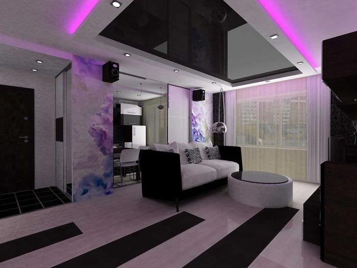 вариант светлого декора квартиры 50 кв.м