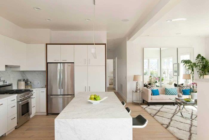 пример красивого декора квартиры 65 кв.м