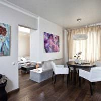 вариант яркого дизайна современной квартиры 65 кв.м фото