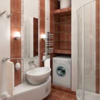 идея необычного дизайна ванной 2.5 кв.м картинка