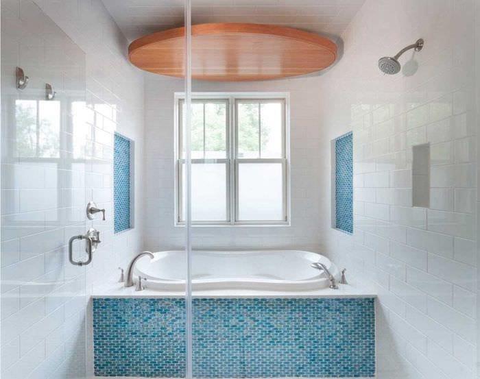 идея яркого дизайна ванной 2017