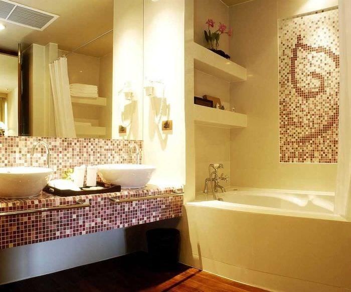 вариант современного интерьера ванной комнаты 3 кв.м