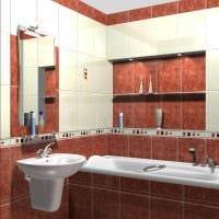 идея современного интерьера ванной комнаты 3 кв.м фото