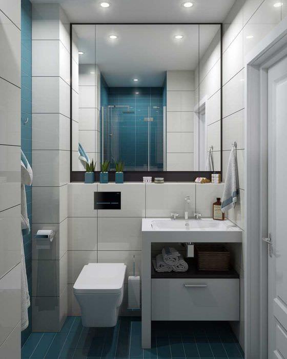 идея красивого дизайна ванной 3 кв.м