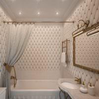 вариант светлого стиля ванной 5 кв.м картинка